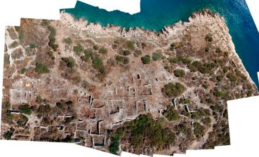 Northeastern neighborhood of Boğsak Island, aerial view