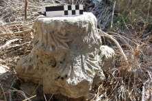 Column capital of a basilica on Dana Island