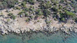 Slipways in Boğsak Bay, aerial photograph
