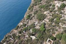 Eastern neighborhood on Boğsak Island before vegetation clearance, 2010