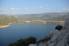 Boğsak Bay viewed from Boğsak Island