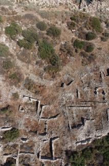 Aerial view, northeastern neighborhood of Boğsak Island