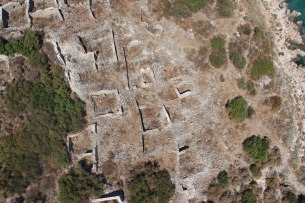 Aerial view of a section of the northeastern neighborhood on Boğsak Island
