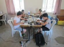Architectural inventory team of 2016. Berke, Ayten, Cansu and Serdar are assisting Mine Esmer