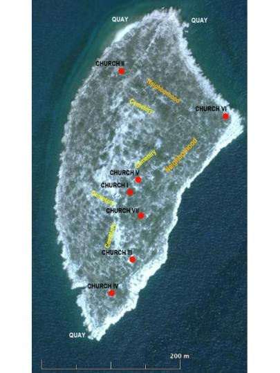 Google Earth satellite image of Boğsak Island