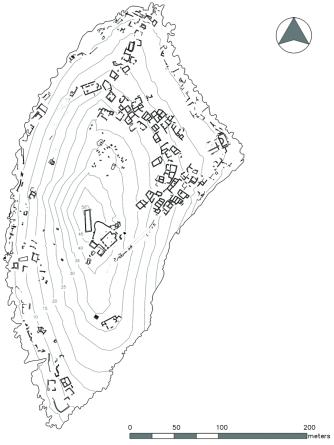 Settlement plan of Boğsak Island, 2013 (drawn by Deniz Coşkun)