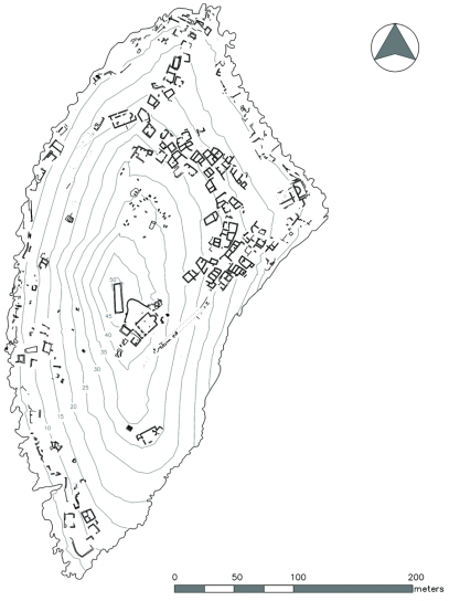 Settlement plan of Boğsak Island, 2013 (drawn by Deniz Coşkun)