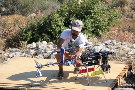 Kazım and model helicopter, 2012