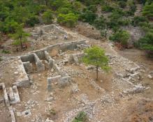 Quarry converted into an ashlar building on Dana Island
