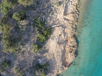 Church 2 and a sarcophagus on Dana Island