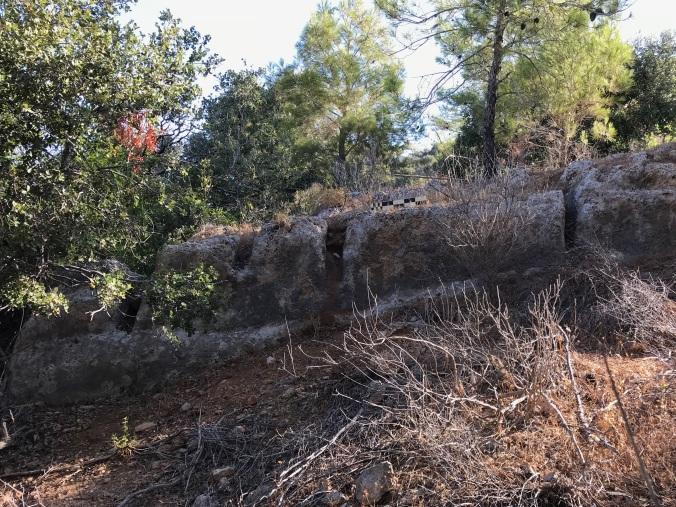 RESİM 7_Dana Adası'nın arka bölgesinde bir taş ocağı ve taş çıkarma kanalları