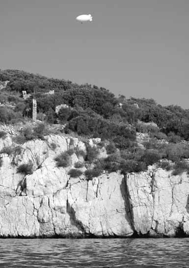 Surveying Boğsak Island using blimp